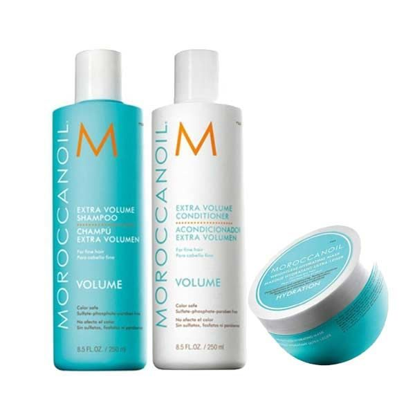 Moroccanoil Pack Extra Volume Shampoo 250ml & Conditioner 250ml & Weightless Ηydrating Μask 250ml
