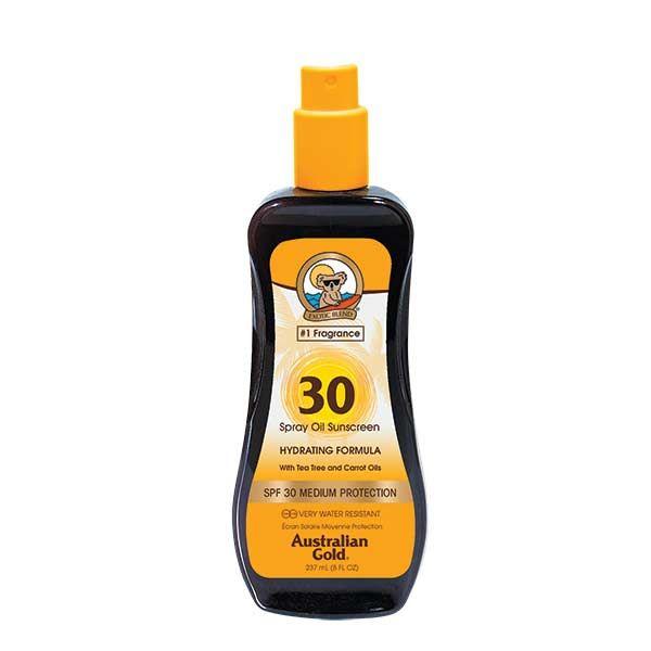 Australian Gold SPF 30 Spray Oil Sunscreen with Carrot 237ml