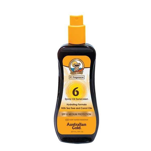 Australian Gold SPF 6 Spray Oil Sunscreen with Carrot 237ml