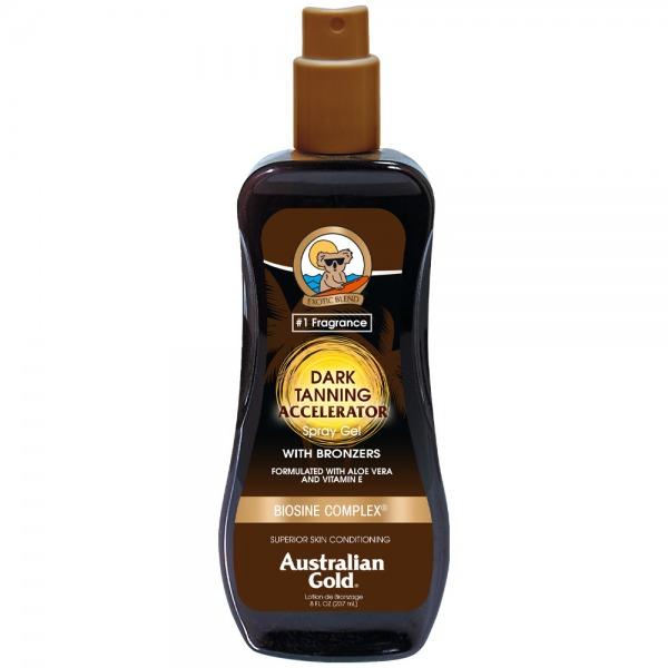 Australian Gold Dark Tanning Accelerator Spray Gel with Bronzer 237ml