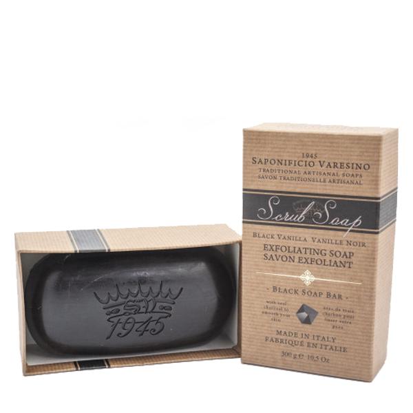 Saponificio Varesino Hand & Body Scrub Soap Charcoal 300gr